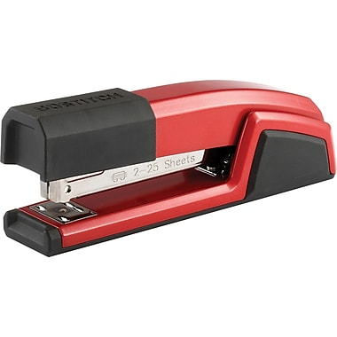 Bostitch Stapler, 25-Sheet Capacity, Red