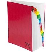 Pendaflex Expandable Desk File, 1-31 Index, Letter Size, Acrylic-Coated PressGuard, Red