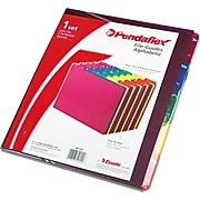 Pendaflex File Guide, A-Z Index, Letter Size, Magenta/Blue/Green/Yellow/Red (PFX 40142)