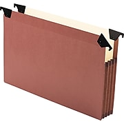 """Pendaflex Premium Reinforced Letter Size, Expanding File With 3 1/2"""" Expansion, Redrope, 5/Box"""