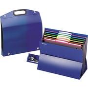 Pendaflex On the Go Desktop Stadium Style File, Six Pockets, Poly, Letter, Blue
