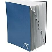 Pendaflex Desk File, 1-31 Index, Letter Size, Acrylic-Coated Pressboard, Black/Blue