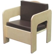 "Wood Designs 20""(H) Plywood Padded Chair, Brown Cushion"