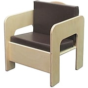 """Wood Designs™ 20""""(H) Plywood Padded Chair, Brown Cushion"""
