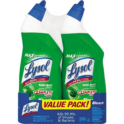 Bleach Bathroom Cleaner: Lysol® Toilet Bowl Cleaner With Bleach, Unscented, 24 Oz