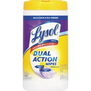 Lysol Dual Action Citrus Disinfecting Wipes, 7 x 8, 75/Canister