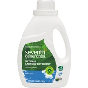 Seventh Generation® Natural 2X Ultra Concentrate Laundry Liquid, Free and Clear Scent, 50 oz. Bottle