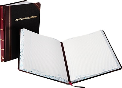Boorum & Pease Laboratory Notebook, Record Rule, 10-3/8 x 8-1/8, White, 150 Sheets