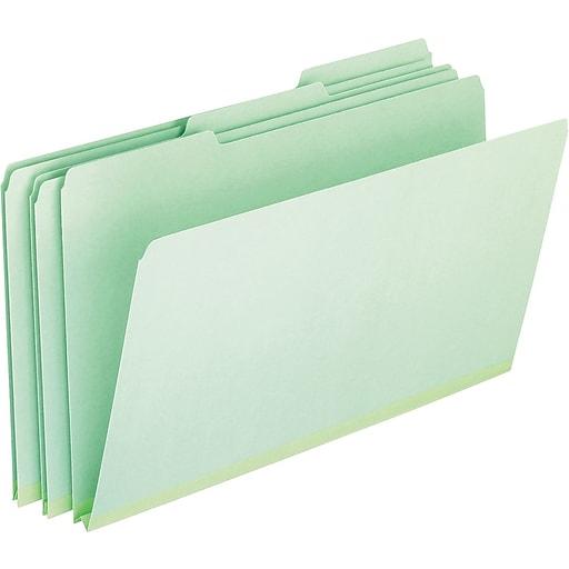 Pendaflex® Pressboard Expanding File Folders, 1/3 Cut Top Tab, Legal, Green, 25/Box (PFX17171)