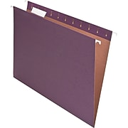 Pendaflex Earthwise Recycled Hanging File Folder, 5-Tab Tab, Letter Size, Violet, 25/Box (PFX 74535)