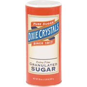Diamond Crystal Granulated Sugar Canisters, 20 oz, Original, 24/Carton (MKL 24003)
