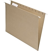 Pendaflex Earthwise Recycled Hanging File Folder, 5-Tab Tab, Letter Size, Natural, 25/Box (PFX 74542)