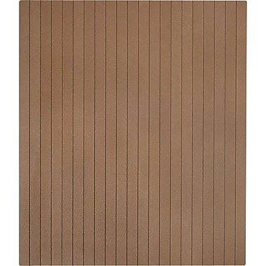 Anji Mountain Natural 48''x41'' Composite Chair Mat for Hard Floor, Rectangular, Chestnut (AMB25021)