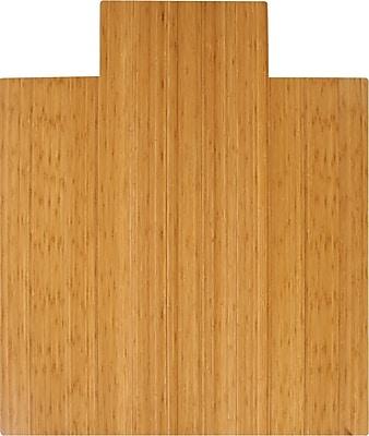 Anji Mountain Deluxe Roll-Up 52''x44'' Bamboo Chair Mat for Carpet & Hard Floor, Rectangular w/Lip (AMB24005W)