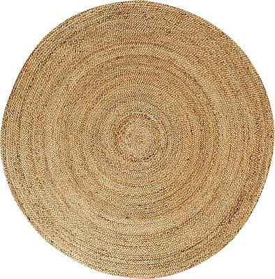 Anji Mountain Kerala Natural Jute Area Rug 6' Round