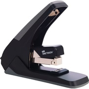 Staples One-Touch™ High-Capacity Flat-Stack Stapler, 60 Sheet Capacity, Black/Gray