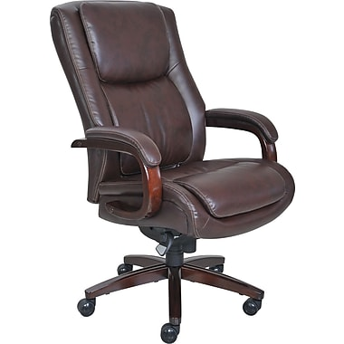 La-Z-Boy Winston Leather Executive Office Chair Fixed Arms Brown (  sc 1 st  Staples & Chairs u0026 Seating | Staples