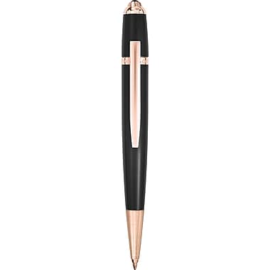 Saint Honoré Trocadero Black Laquer, PVD and 18K Gold Plating Ballpoint Pen, Blue