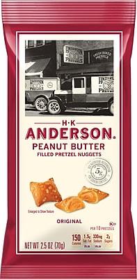 Anderson® Peanut Butter Pretzel Bites; 2.5 oz, 8/Box