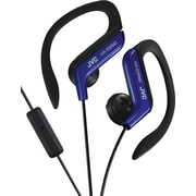 JVC Ear-Clip Headphones with MIC and Remote, Blue