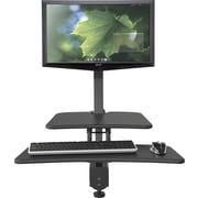 "Balt Up-Rite Desk Mounted Sit/Stand Workstation, Single Monitor, Cherry/Black, 42""H x 27.63""W x 30""D"