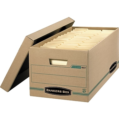 Bankers Box® Enviro Stor™ Letter-Size Storage Box, 4/Pack (9014)