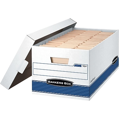 Bankers Box® Stor/File™ Letter-Size Storage Box, 4/Pack (70101)