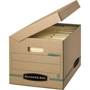 Bankers Box® Enviro-Stor™ Letter/Legal Attached-Lid Storage Box, 25/Pack (00872-25)