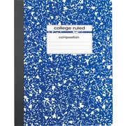 "Staples® Composition Notebook, College Ruled, 9-3/4"" x 7-1/2"", Blue"