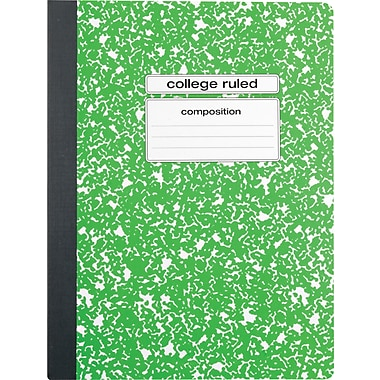 Staples® Composition Notebook, College Ruled, 9-3/4