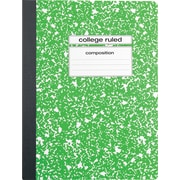 "Staples® Composition Notebook, College Ruled, 9-3/4"" x 7-1/2"", Green"