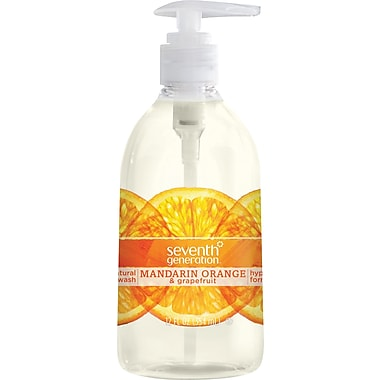 Seventh Generation™ Natural Hand Wash Soap, Mandarin Orange & Grapefruit, 12 oz. Pump Bottle (22925)