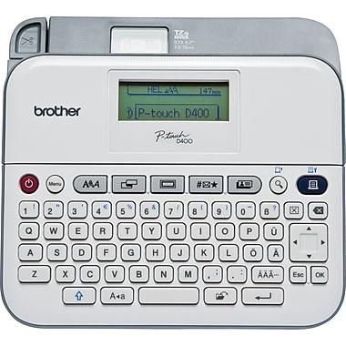 Brother – Étiqueteuse polyvalente avec adaptateur secteur, PT-D400AD