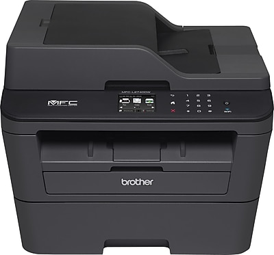 Brother Refurbished EMFCL2740DW Compact Wireless Multifunction Monochrome Laser Printer with Single-Pass Duplex Copy Scan Fax