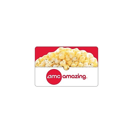 amc theatre gift card amc theatres 174 gift cards 25 email delivery staples 3286