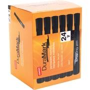 Staples® Duramark® Permanent Tank Markers, Chisel Tip, Black, 24/pk (26937)