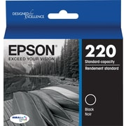 Epson DURABrite Ultra 220 Black Ink Cartridge, (T220120-S)