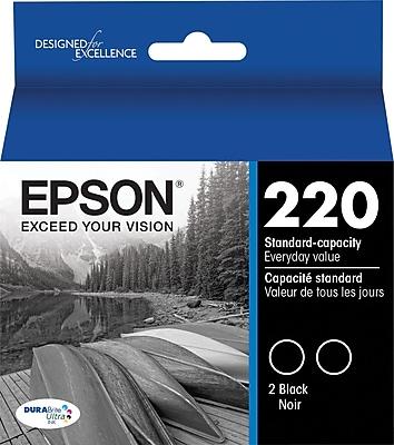 Epson (T220120-D) Black Ink Cartridges, Ultra, Multi-pack (2 per pack)