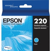 Epson DURABrite Ultra 220 Cyan Ink Cartridge, (T220220-S)