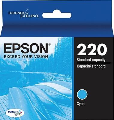Epson DURABrite Ultra 220 Cyan Ink Cartridge, (T220220-S)