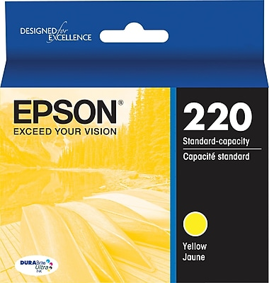 Epson DURABrite Ultra 220 Yellow Ink Cartridge, (T220420-S)