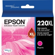 Epson 220XL, Magenta Ink Cartridge, High Capacity (T220XL320)