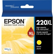 Epson 220XL, Yellow Ink Cartridge, High Capacity (T220XL420)