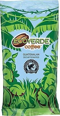 New and Improved Packaging, Same Great Coffee! Ecoverde Coffee ® Guatemalan Medium Roast Ground Coffee, Decaffeinated, 1.5 oz.