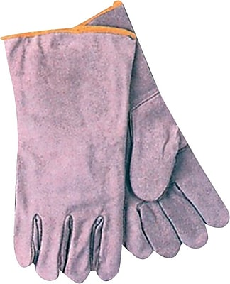 Anchor Brand® Split Cowhide Standard Wing Thumb Economy Welding Gloves, Large, Gray