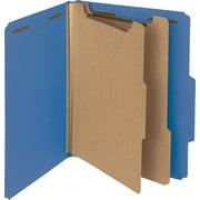 "Pressboard Classification Folder, 2"" Exp, 2 Dividers, Letter, , Dark Blue, 10/Bx"