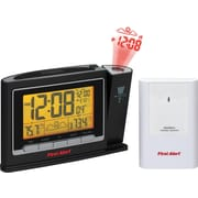 First Alert Radio Controlled Weather Station Projection Clock Radio