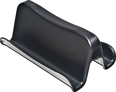Staples Plastic Desk Business Card Holder Black Staples