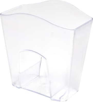Staples Jumbo Pencil Cup Clear 718141