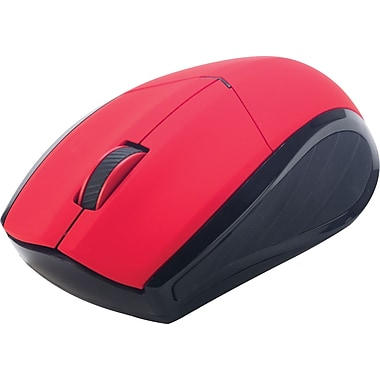 Staples® Wireless Mouse, Red